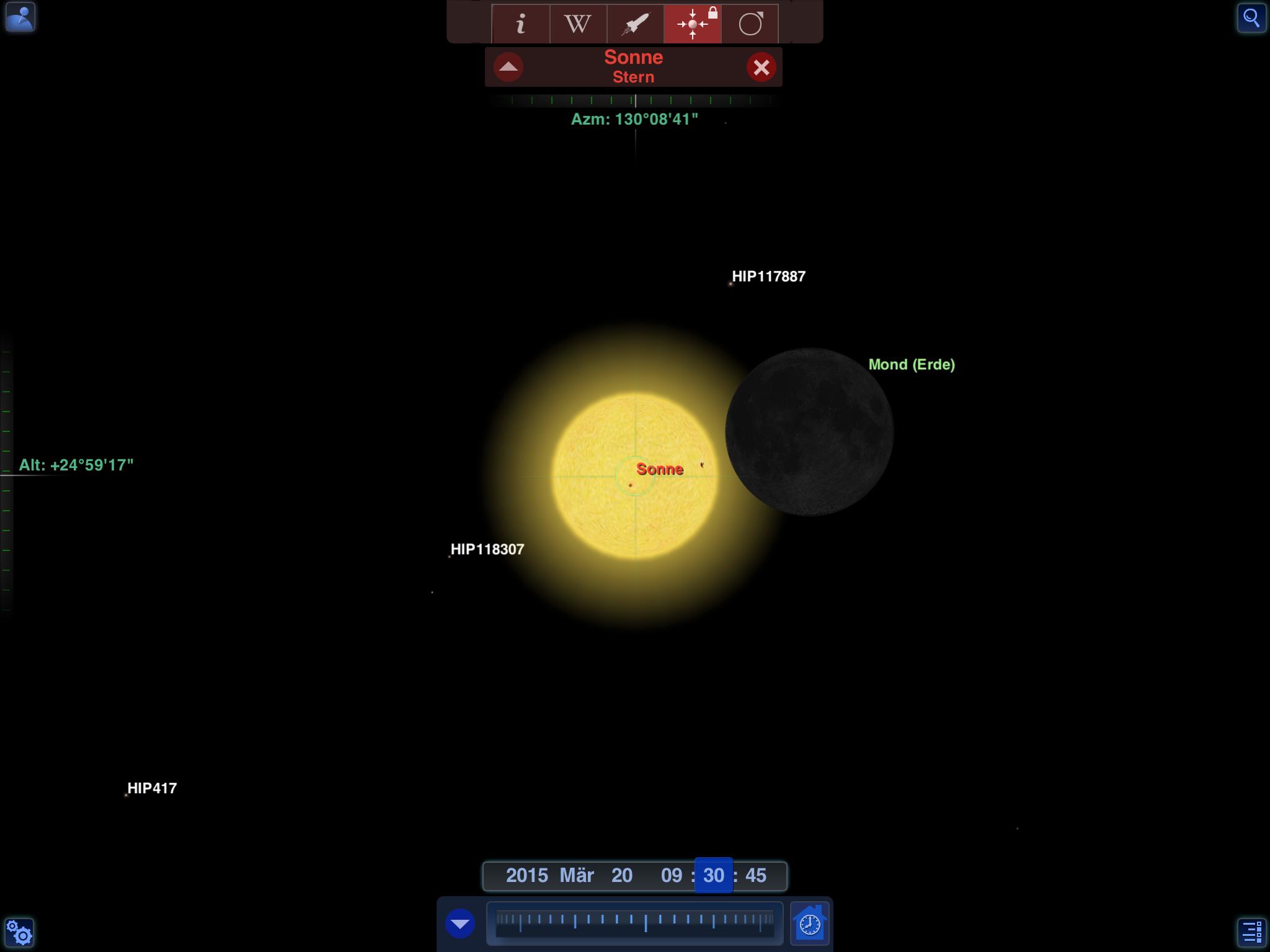 Sonnenfinsternis beginnt...