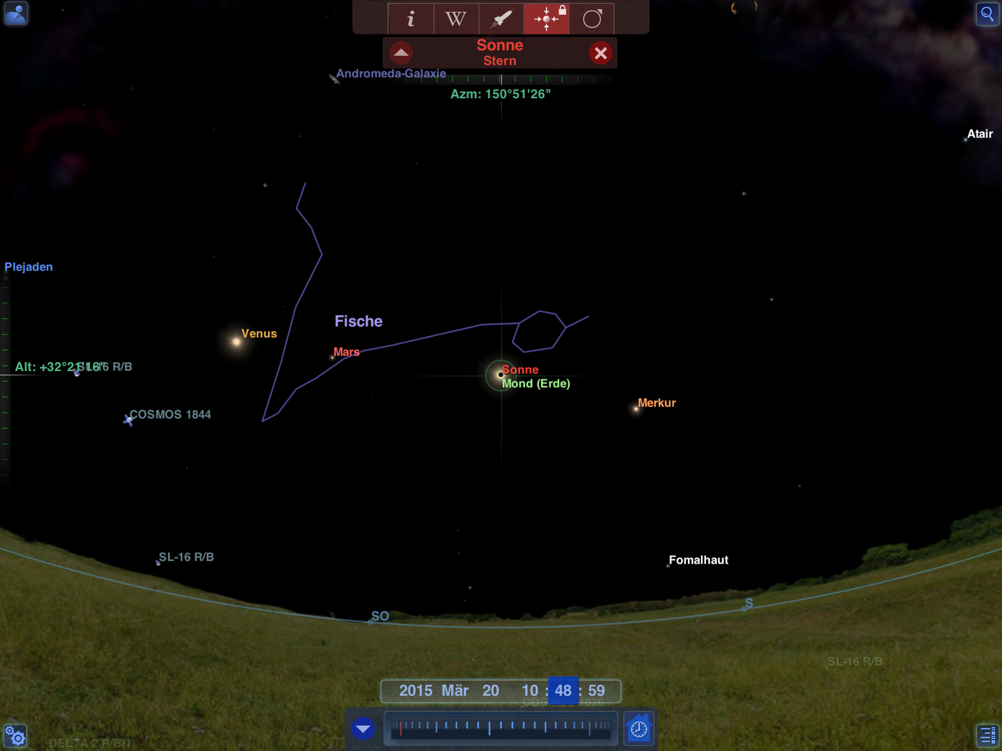 Sonnenfinsternis Sternenhimmel
