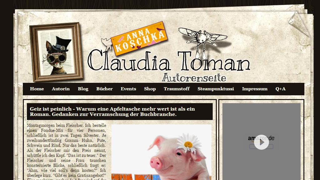 """Blogbeitrag """"Geiz ist peinlich"""" von Claudia Toman"""