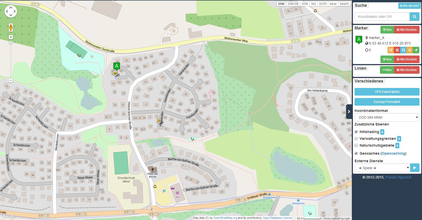Koordinaten direkt in Karte anzeigen lassen: perfektes Geocaching-Tool!